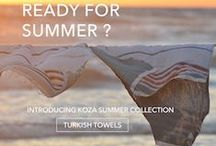 Koza Summer Collection / If you are going to beach or travelling often , you want to check here for practical Turkish towels.