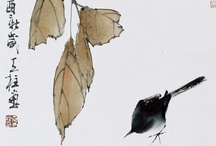 Japanese ! ! SIMPLICITY ! ! / The Japanese artists have mastered the art of showing more with less and some leave me breathless!  See them in a gallery to fully appreciate the play of the element 'value' (light/dark) in these works. / by ✨Pat ✨ Ervin