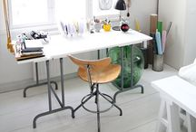 Home office/work space / Työskentelytiloja