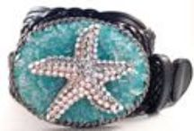 Buckle Your Belt / Handmade Swarovski Crystal Belt Buckle with Freshwater Pearls.  Woven leather belt included with purchase.  $74.99