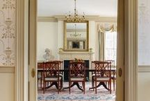 Dining Areas / To entertain or not to entertain... In spaces such as these, is that even a question? This board is a conglomeration of the dining rooms Glave and Holmes Architecture has designed over the years.