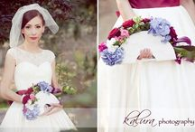 My Wedding / Bordeaux, blue, cream, fuchsia