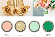 Romantic pastel / Mint blush butter gold