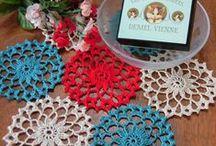 Doily - Elegant , Beautiful and Happiness / Japanese handmade Crocheted Doilies