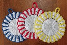 Pot mat - You have teatime deliciously. / Japanese handmade crocheted pot mat.