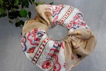 "Adult size Scrunchie - Tenugui (Japanese towel) / Japanese handmade ""TENUGUI"" Scrunchie"