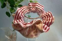 Adult size sewing Scrunchie / Japanese handmade kawaii shushu / sewing reversible and frilled Scrunchie