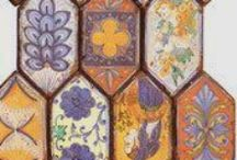 tiles handmade / Raku