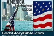 American Flag Bible / American Flag Bible - God's Glory Bible - The Holy Bible Honoring God and Country. Made in AMERICA.