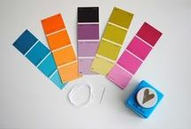 Colours / here are some great ideas on how to use colours, like how to use paint colour samples for craft projects...