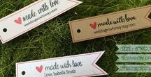 Pennant Tags / Pennant tags for party favors, holidays, gifts, and special occasions in various hand-cut home-made designs!