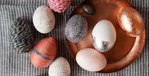 Ostereier / Coole, schlichte und stylish Osterdeko mit Eiern