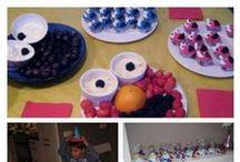 1e verjaardag Elmo/Koekiemonster thema / Ideen voor jouw kindje 1e verjaardag met Elmo/Koekiemonster thema!