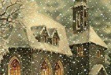 Lumihiutaleita hiljalleen, sataa maahan lumivalkoiseen.... / Eri tavoilla - etupäässä paperista- tehtyjä lumihiutaleita