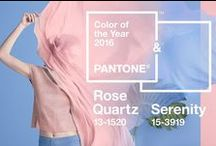 Rosa Quartz e Serenity - Pantone 2016 / As cores de 2016. Pantone.