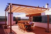 Toldos *tipo* SPANNMAXXL / Ideas para decorar su jardín, terraza o azotea usando toldos SPANNMAXXL que son toldos correderos, deslizantes, retractables en tela.
