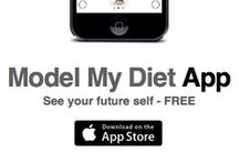 App available on iTunes / Screen shots of the Model My Diet App. / by Model My Diet