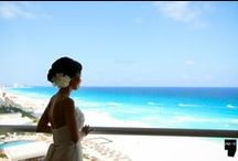 Riviera Maya Weddings / The Riviera Maya, one the most beautiful for destination weddings! Hair and makeup by Styling Trio!