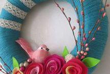 Ανοιξιάτικα στεφάνια - Spring wreaths