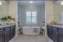 Bathroom Design / Large master bathrooms and usable alternate baths are important when designing a comfortable home to live in.  All of Tidewater Homes bathrooms feature convenient and spacious features with the best fixture finishes.