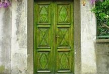Emerald Street~Green Color Board / Every hue of chartreuse, melon, grass green, money green, beautiful bright color green!