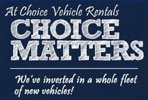 Choice Vehicle Rentals / This board contains our infographics and promotional copies.