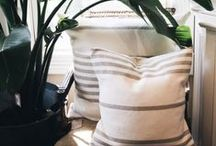 Pillows / We take the time to pick out fabrics and create collections to go with the seasons.