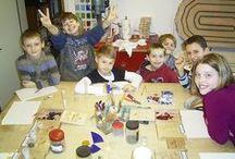 Geburtstage für Jungs, Jungen und Buben ;o) / Fotos von Kunstwerken die in meinem Atelier bei Jungsgeburtstagen entstanden. Kreatives Gestalten und Arbeiten mit Glas. Gerade für Jungen eine neue Herausforderung!