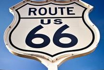 TRAVEL: Route 66 / When I was a little girl, my mom packed up the car with my sisters & I. We drove from NY to CA. It took us 18 days! That's when my love for road trips started. Since then, my dream adventure is to drive the iconic Route 66. As I put my board together, it reconfirmed how fortunate we are to live in this beautiful country. We begin our journey in California with stops at some very kitschy attractions. To conclude our trip in Chi-town! Come along for the ride ~ADVENTURE AWAITS~ / by Christine P