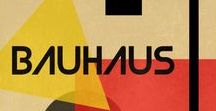 style: bauhaus / https://www.metmuseum.org/toah/hd/bauh/hd_bauh.htm 1919-33. Influenced in part by Russian constructivism and Dutch de Stijl. It was characterized by limited color (red and black, sometimes blue too) and sans serif typography. usually set in an asymmetrical manner.