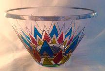 My hand painted glassware / Hand Painted Glassware made by Mindy Sand www.mindysand.com