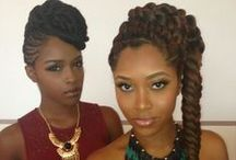 Braided Beauties, Locs & Twists / African American hair,African braided hairstyles,micro braids,locs,twists. / by SweetCherieNC