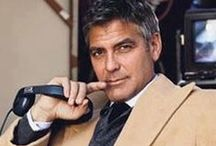 GEORGE CLOONEY / Born in 1961 (USA) - He made his acting debut on TV as Dr. Ross on the medical drama ER.  His fame widened with the commercial success Ocean's Eleven / by Art of Cinema