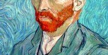 Vincent van Gogh / This particular bipolar artist cut his ear off... mad world.