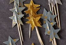 Three Gold Stars & A Crescent Moon