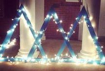 Letter Ideas / Decorate your Tri Delta letters with fun prints, colors and designs!