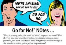 Go for No! / The Go for No! philosophy teaches you how to turn fear of rejection from obstacle into an asset no matter what business, industry, or venture you are attempting. Reprogram how you think about sales rejection.