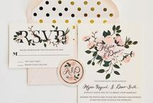 Wedding :: Stationery / Save-the-dates, wedding invitations, thank you cards. Get creative with your own personalized stamps, tags, and stickers too!