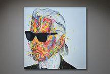 Mark Vice Art - Multicolour Artwork / A selection of Multicolour Mark Vice Originals