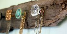 Jewelry Storage Ideas / Necklace holders, bracelet bars, earring stands and more! Creative ways to store and display jewelry.