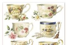 Decoupage,country style,eat,drink,pic,illustration,transfer, french,vintage