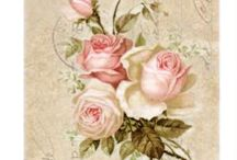 Decoupage,roses,pic,illustration,transfer, french,vintage