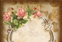 Decoupage,collage,backgrounds,frame,lovely,sweet,corner,swirls,vintage,french,pic,image