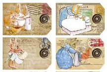 Easter,decoupage,transfer,image,vintage,french,greetings,collage,label,clipart