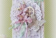 cards - shabby chic butterflies