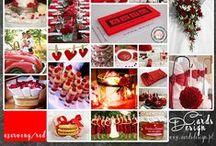 Red Wedding / Czerwony Ślub / Kolor przewodni ślubu - czerwony. Więcej na www.cardsdesign.pl  Zaproszamy!