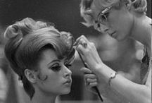 Hair and makeup throughout the 60's