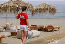 Baja Beach Club / In Rethymnon, Platanias Beach, Crete, Greece