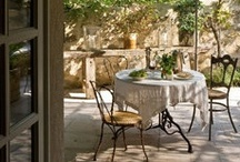 Patios & Courtyards / Outdoor gathering spaces. / by Rebecca Matthews