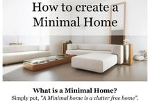 The Streamlined Life / Minimalist approach to various aspects of life